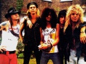 Guns NRoses, zleva Axl Rose, Duff McKagan, Slash, Izzy Stradlin, Steven Adler, pelom 80. - 90. let